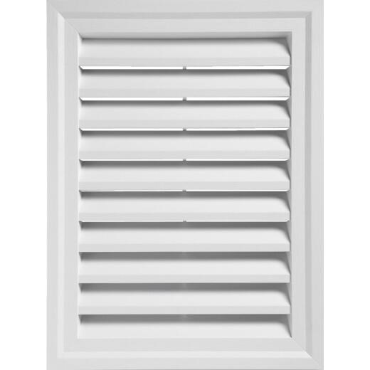 "Ply Gem 24"" x 30"" Rectangular White Gable Attic Vent"