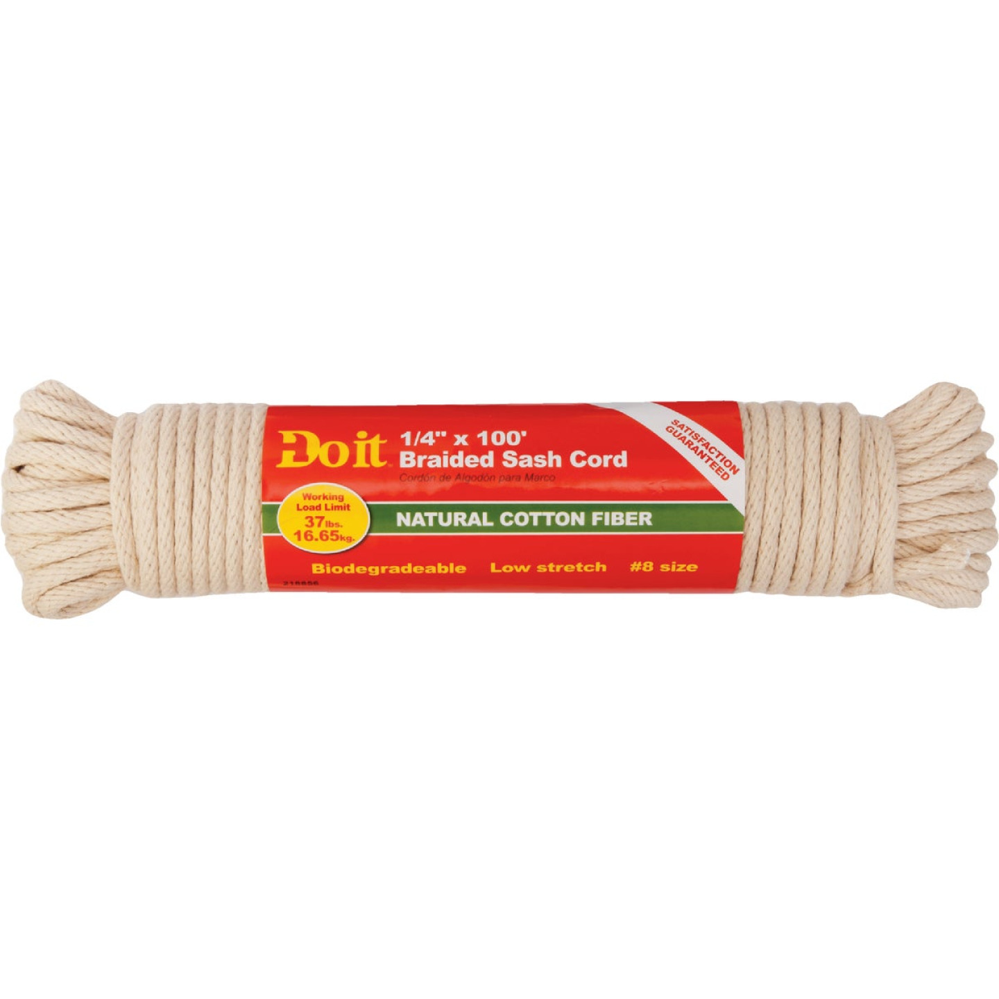 Do it 1/4 In. x 100 Ft. White Solid Braided Cotton Sash Cord Image 2