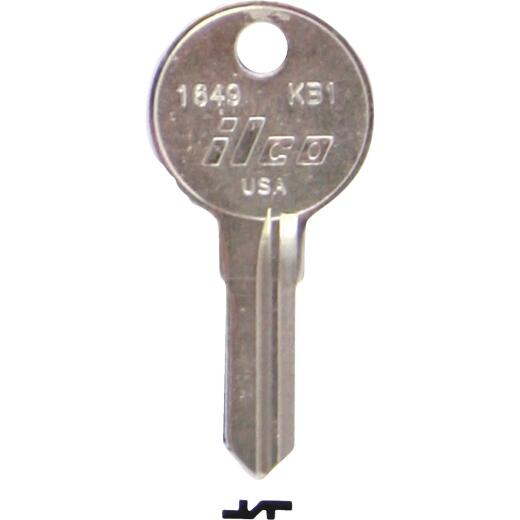 ILCO Kimball Nickel Plated File Cabinet Key, KB1 (10-Pack)
