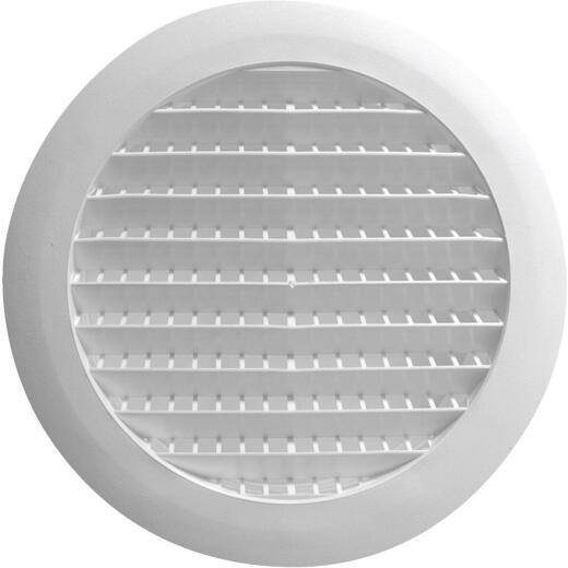Builders Best 6 In. White Plastic Round Eave & Soffit Vent