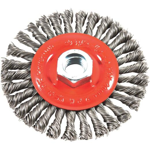 Forney 4 In. Stringer Bead 0.012 In. Angle Grinder Wire Wheel