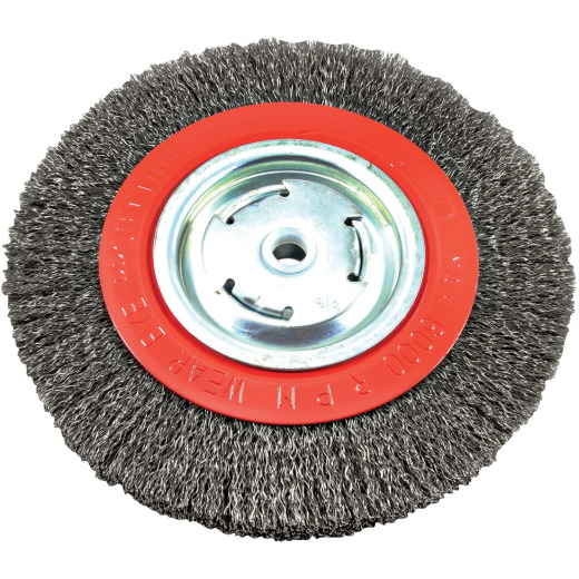 Forney 8 In. Crimped, Coarse .012 In. Bench Grinder Wire Wheel