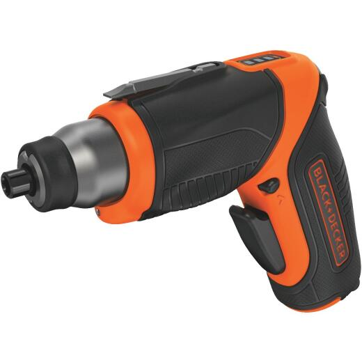 Black & Decker 4-Volt MAX Lithium-Ion Pivot 1/4 In. Cordless Screwdriver with Accessories