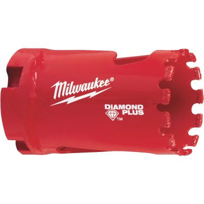 Milwaukee Diamond Plus 1-1/4 In. Diamond Grit Hole Saw