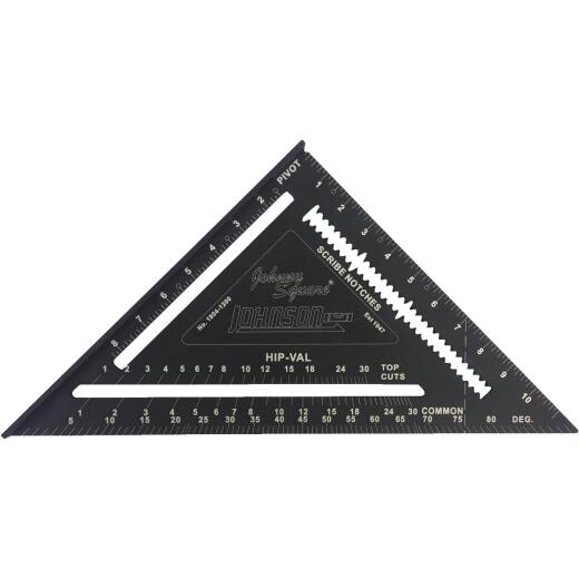 Johnson Level Johnny Square 12 In. Aluminum Professional Easy-Read Rafter Square