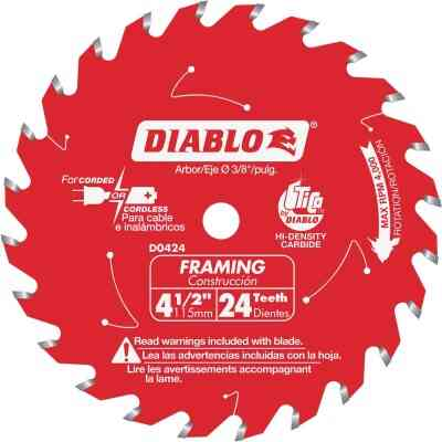 Diablo 4-1/2 In. 24-Tooth Framing Circular Saw Blade