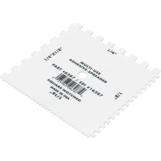 QLT Various Square-Notch Disposable Adhesive Spreader