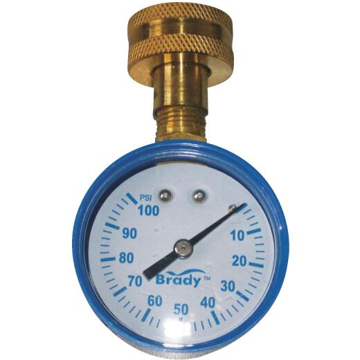 Campbell 3/4 In. 100 psi Pressure Gauge