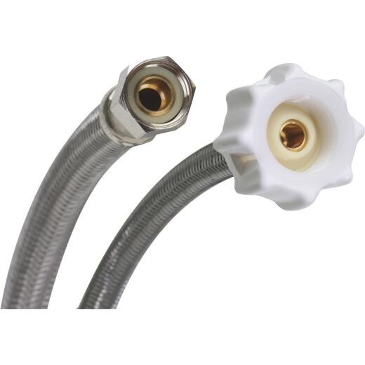 Fluidmaster Click Seal 3/8 In. Comp x 7/8 In. Ballcock x 12 In. L Braided Stainless Steel Toilet Connector
