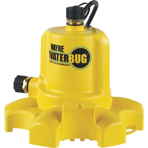 Wayne WaterBUG 1/6 H.P. Submersible Utility Pump with Multi-Flo Technology