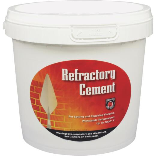Meeco's Red Devil 1/2 Gal. Buff Refractory Furnace Cement