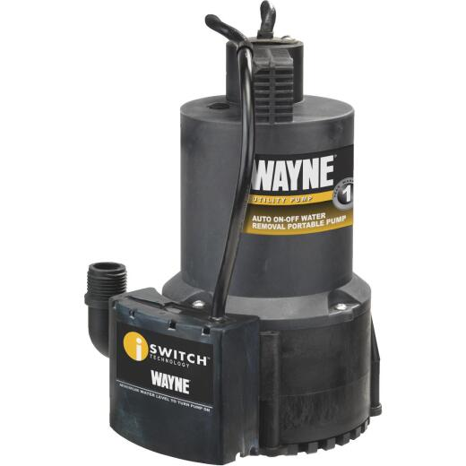 Wayne 1/4 H.P. Submersible Energy Efficient Automatic Sensor Utility Pump