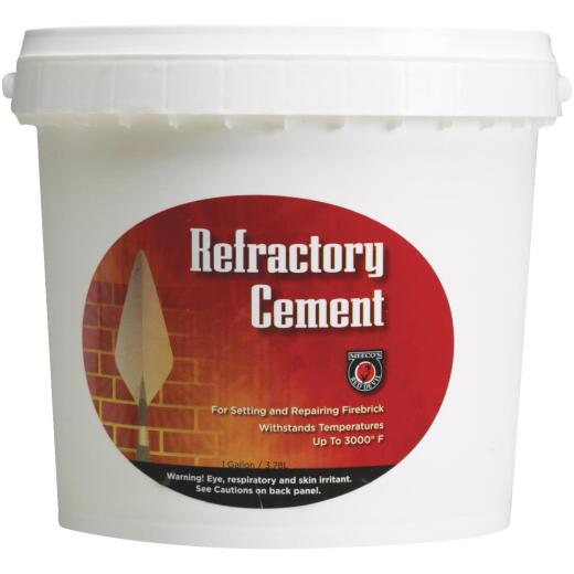 Meeco's Red Devil 1 Gal. Buff Refractory Furnace Cement