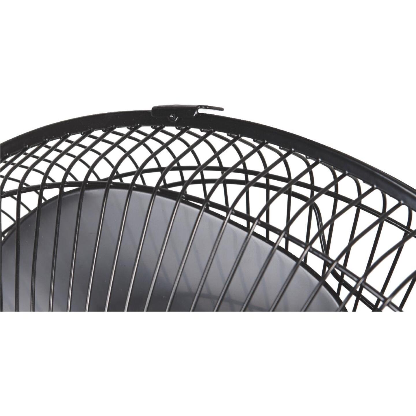 Best Comfort 16 In. 3-Speed Extends to 49 In. H. Black Oscillating Pedestal Fan Image 5