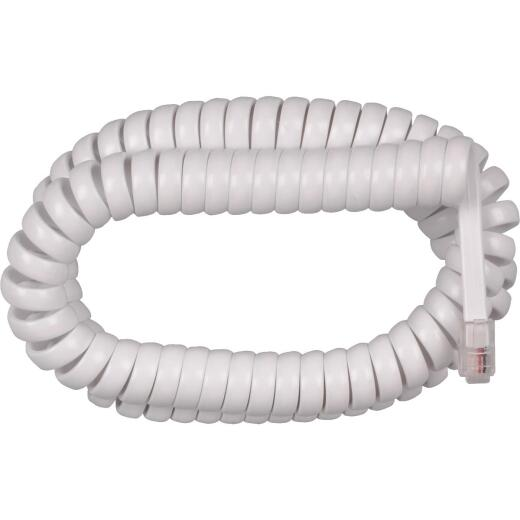 RCA 12 Ft. White Phone Cord