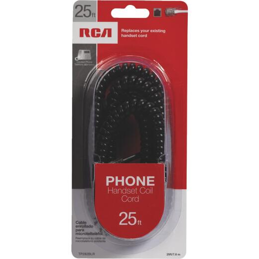 RCA 25 Ft. Black Phone Cord