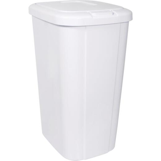 Hefty 53 Qt. White Wastebasket with Lid