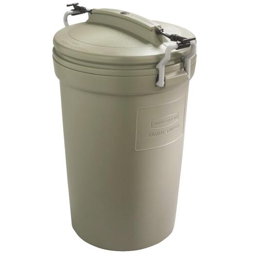 Rubbermaid 32 Gal. Green Trash Can with Lid