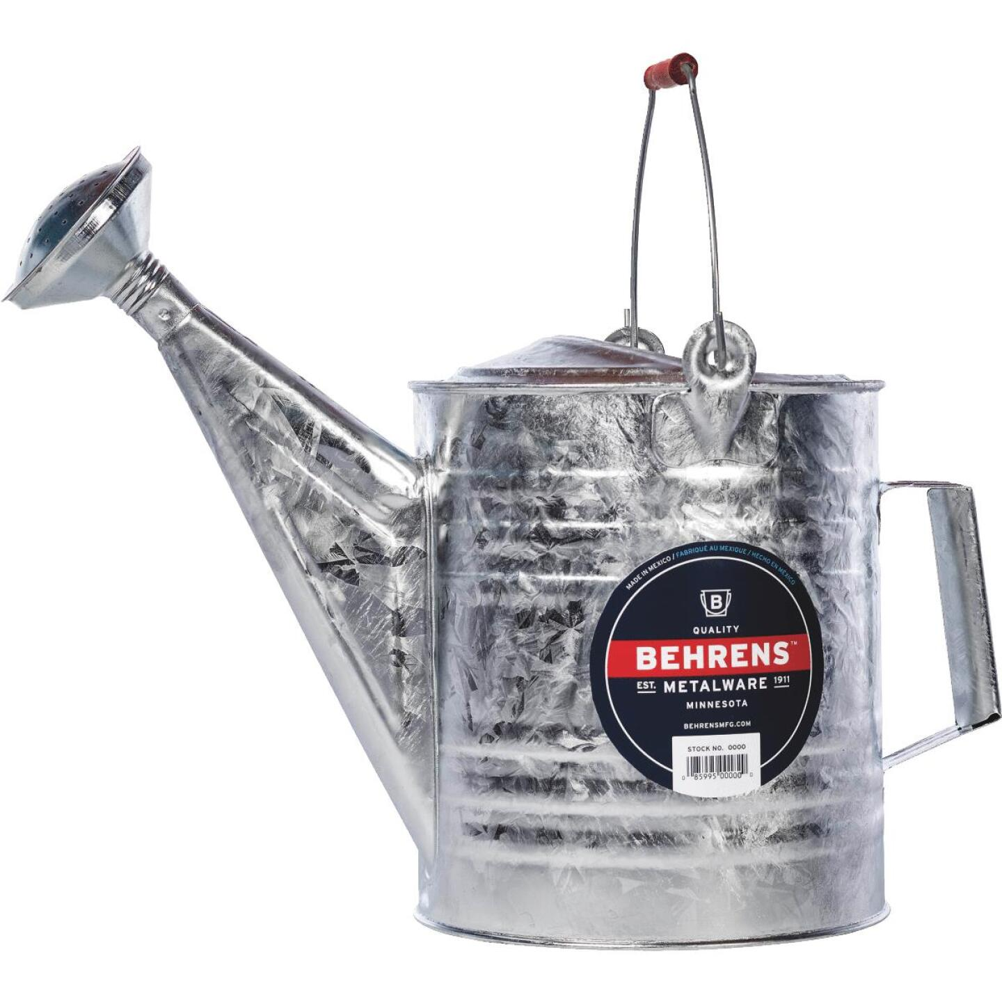 Behrens 8 Qt. Galvanized Steel Watering Can Image 1
