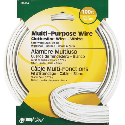 HILLMAN ANCHOR WIRE 100 Ft. #5 Multi-Purpose Clothesline