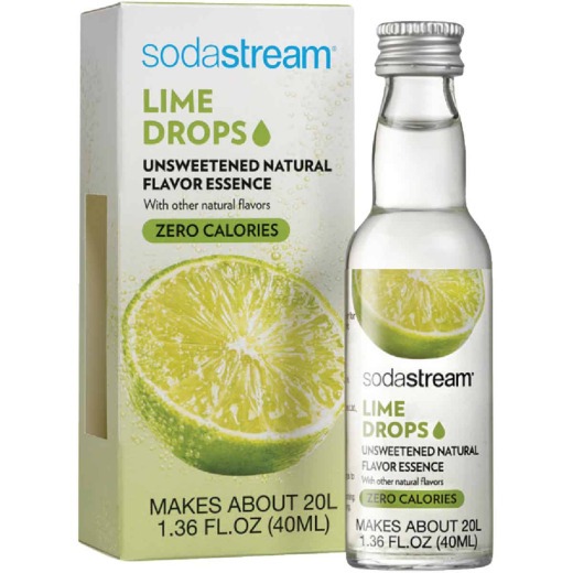 SodaStream 1.36 Oz. Lime Sparkling Water Fruit Drops