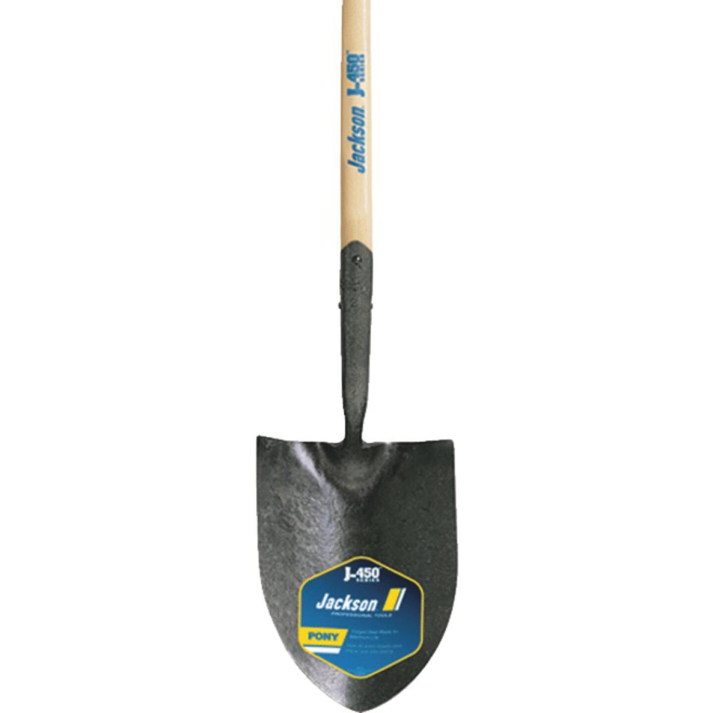 Jackson Pony J-450 Series 47 In. Wood Handle Round Point Contractor Shovel Image 1