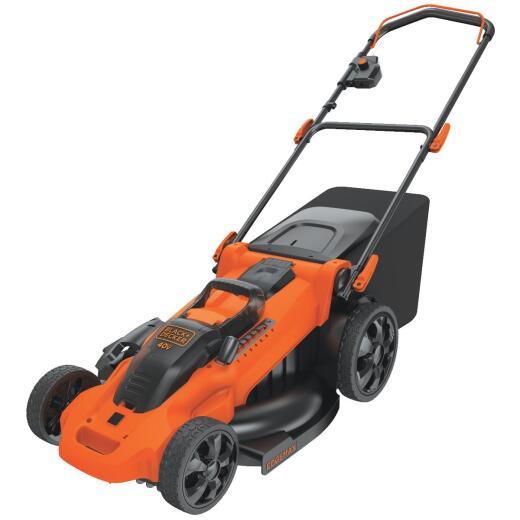 Black & Decker 20 In. 40V MAX Lithium Ion Push Cordless Lawn Mower