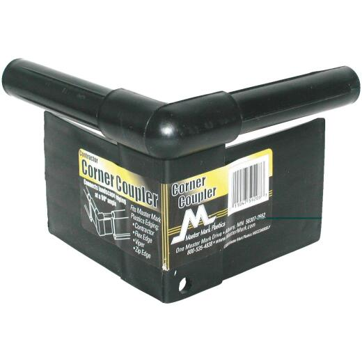 Master Mark Master Gardener 90 Deg. Black Plastic Contractor Lawn Edging Coupler
