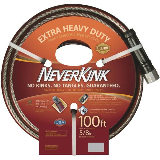 Neverkink 5/8 In. Dia. x 100 Ft. L. Extra Heavy-Duty Garden Hose