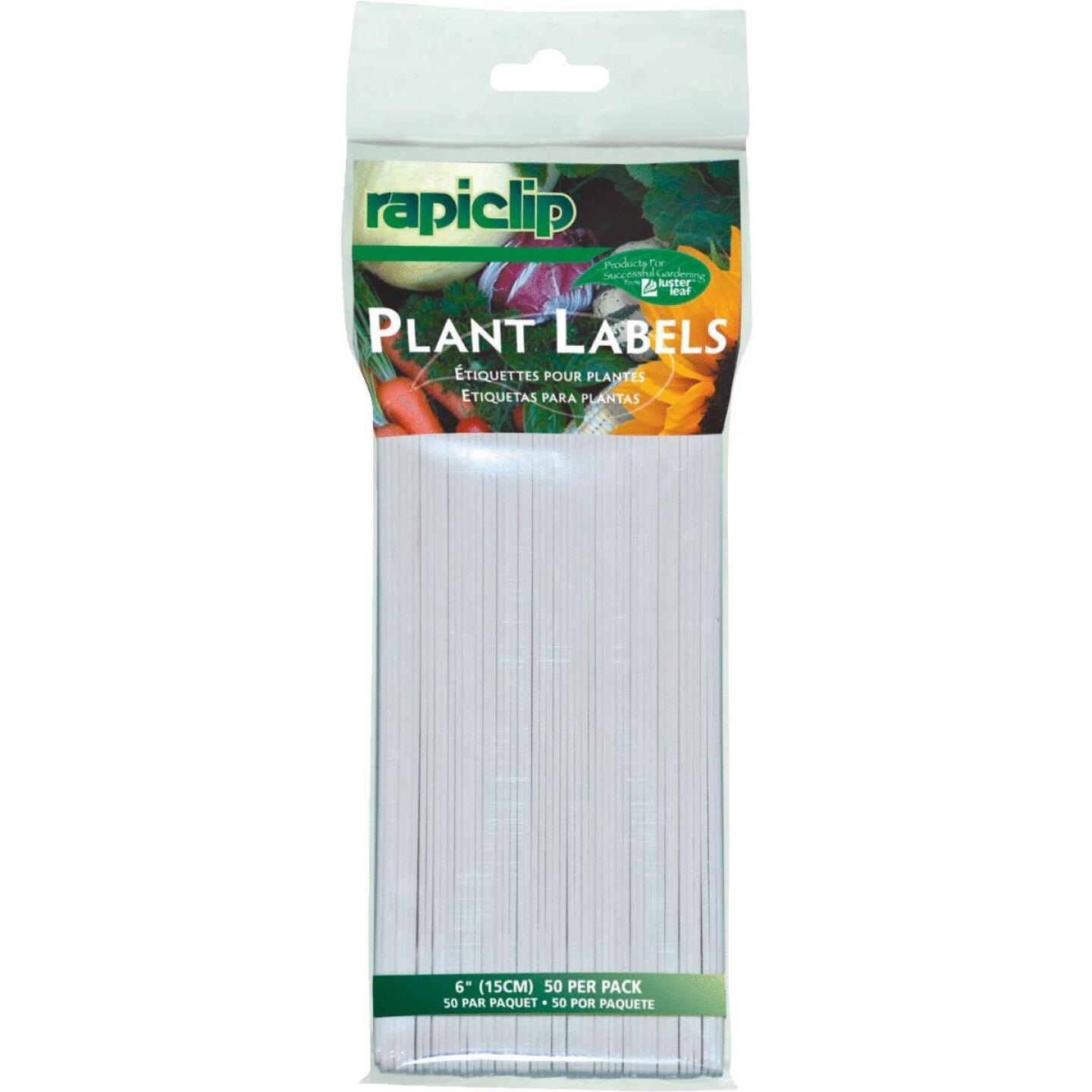 Rapiclip 6 In. Plastic Garden Marker Plant Label (50-Pack) Image 1