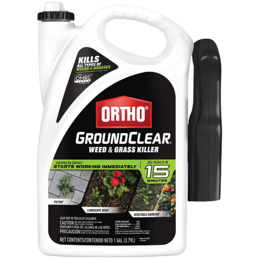 Ortho GroundClear 1 Gal. Ready To Use Trigger Spray Weed & Grass Killer