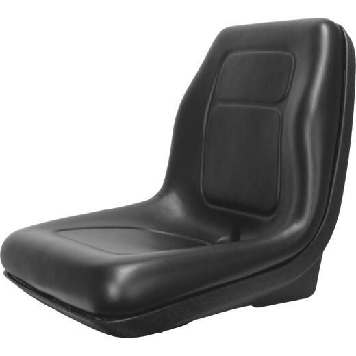 Concentric Black Talon Ultra-High Back Gator Style Black Tractor Seat