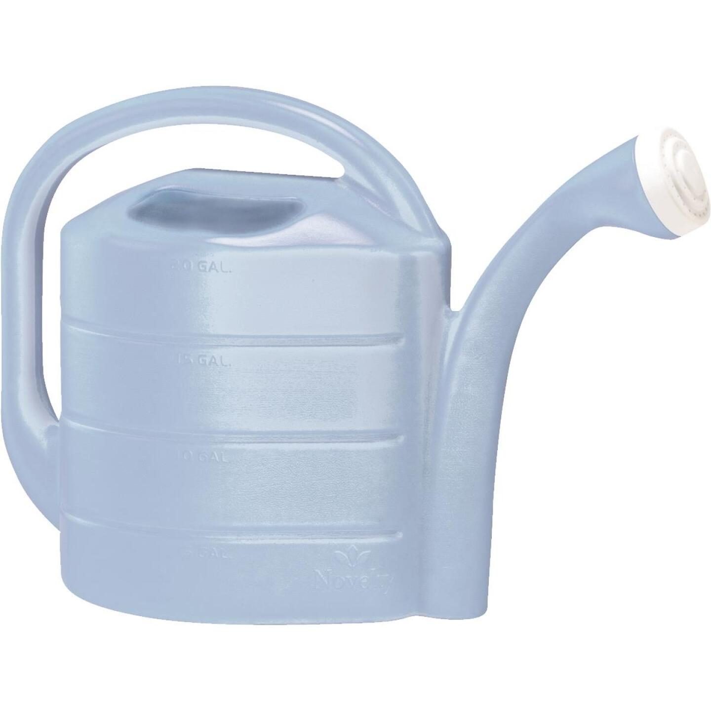 Novelty 2 Gal. Sky Blue Poly Watering Can Image 1