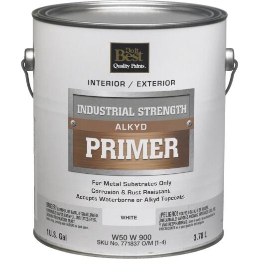 Do it Best Alkyd Industrial Strength Primer, White, 1 Gal.