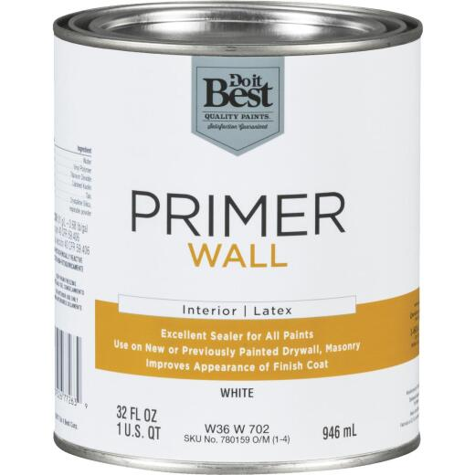 Do it Best Interior Latex Wall Primer, White, 1 Qt.