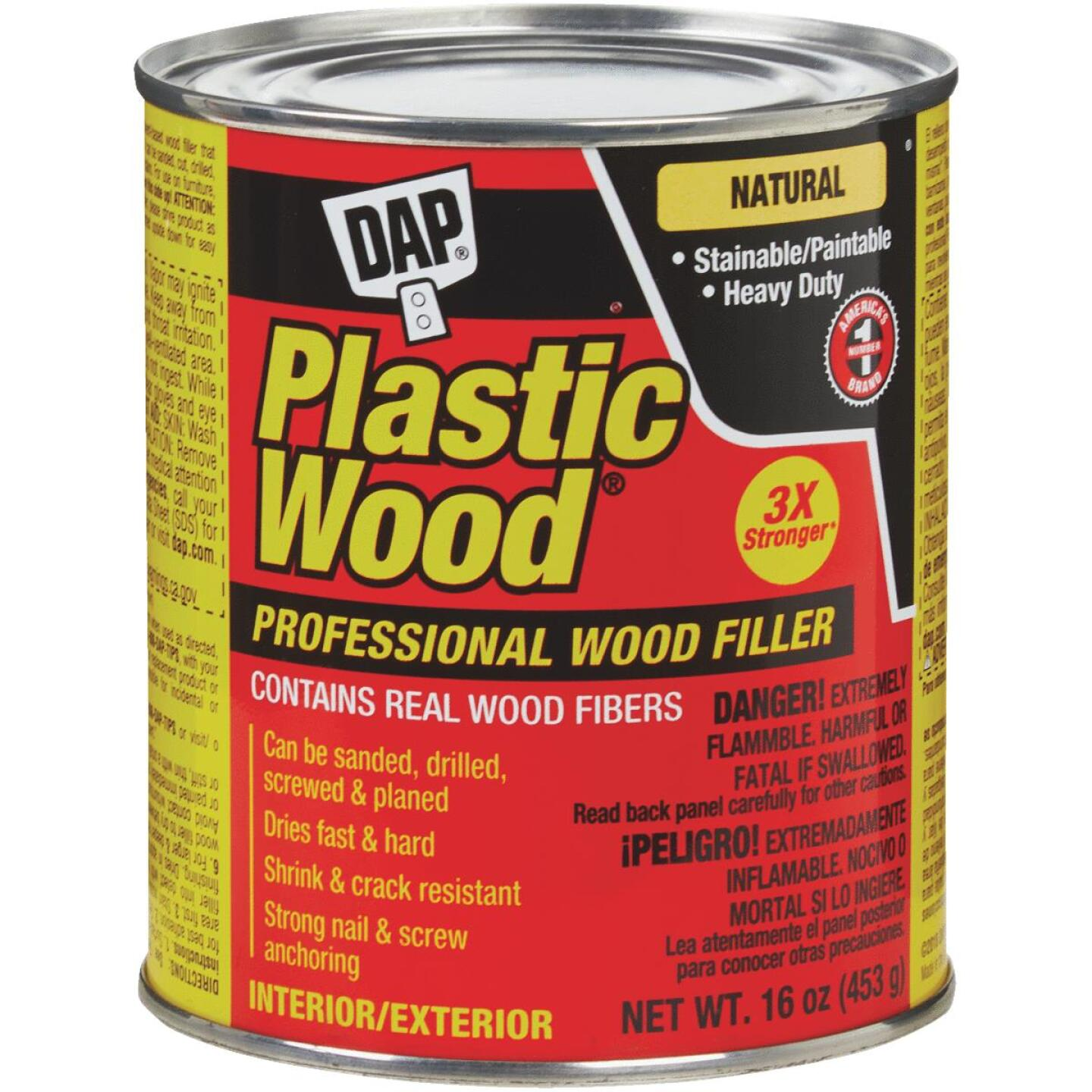 DAP Plastic Wood 16 Oz. Natural Solvent Professional Wood Filler Image 1