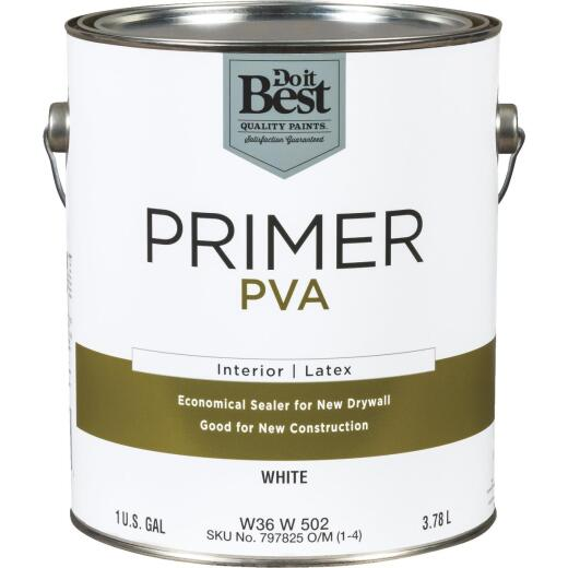 Do it Best PVA Interior Latex Drywall Primer, White, 1 Gal.