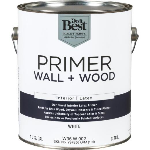 Do it Best Interior Latex Wall and Wood Primer, White, 1 Gal.