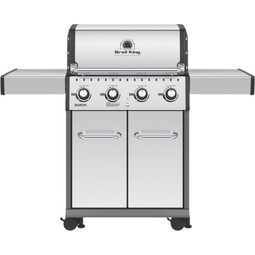Broil King Baron S420 4-Burner Stainless Steel 40,000-BTU LP Gas Grill