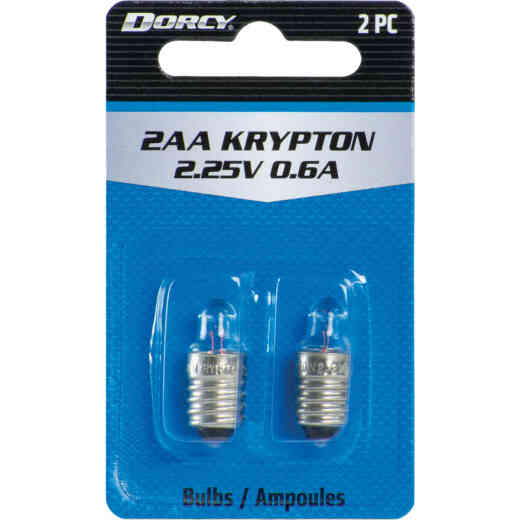 Dorcy Active Series Krypton 2.25V Replacement Flashlight Bulb (2-Pack)