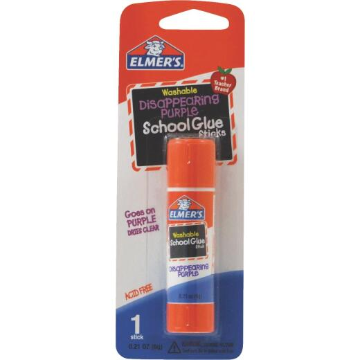 Elmer's 0.21 Oz. Washable Clear Drying School Glue Stick